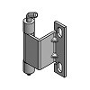 Scharnier Stahl 250 4