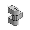 Scharnier Zinkdruckguss 206 4 BK