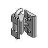 Scharnier Zinkdruckguss 212 3B BK